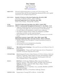 Bioengineering Entry Level Resume Sales Engineering Lewesmr