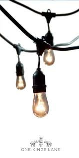 bulbrite 860221 outdoor string light with amber incandescent bulbs 48 ft