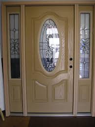 appealing solid wood door with oval glass ideas image design house