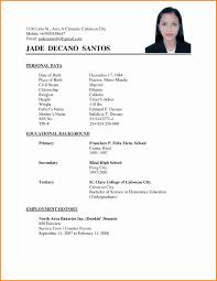 Applicant Resume Sample Filipino Simple Gentileforda Com