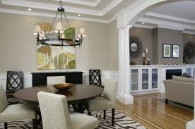 Dining Room And Living Room Color Schemes,Asian Living/Dining Room with  Opposing Walls