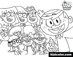 Coloring Pages Loud House Family Coloring Pages Printable Houses