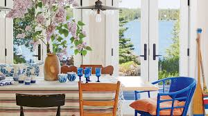 simple home dining rooms. Wonderful Rooms Light Wood Walls Painted Gray Floors And Windowed French Doors Keep The  Focus On With Simple Home Dining Rooms