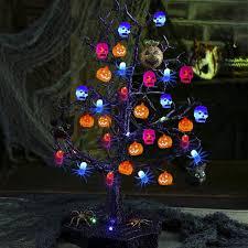 Outdoor Light Up Halloween Tree Home Halloween Spider Decorations Halloween Decorations