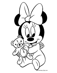 Baby Mickey Mouse Clipart Black And White