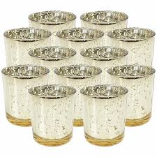 mercury glass votive candle holders are the perfect touch to add glow and elegance to your event and home décor each votive is embellished with an antique