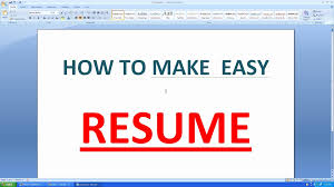 How To Make A Resume In Word Resume Online Builder