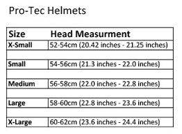 Right Protec Helmet Sizes Chart Skate Helmet Size Chart