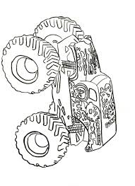 Truck Coloring Book Grave Digger Kids Coloring Pages Coloring