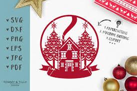 christmas scene globe svg eps dxf png pdf jpg cut file exle image 1