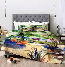 beach house bedding caribbean time comforter laura trevey