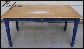 Stripping Dining Room Table Two Toned Table How To Refinish A Table Mirror Installation