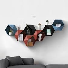 <b>Nordic Living Room wall</b> mounted Geometric Punch free Wall ...