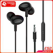 Tai nghe FENGZHI E52 jack 3.5mm nhét tai chống ồn chính hãng cho iPhone  Samsung OPPO VIVO HUAWEI XIAOMI tai nghe có dây