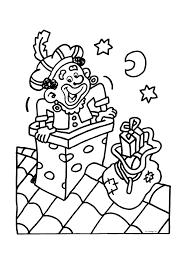 Zwarte Piet In De Schoorsteen Sinterklaas Kleurplaten Kleurplaatcom