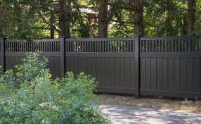 black vinyl privacy fence. Black Vinyl Privacy Fence N