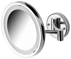 wall mounted magnifying mirror. good shape wall mounted magnifying mirror with lighted like this stainless steel material high quality stuff a