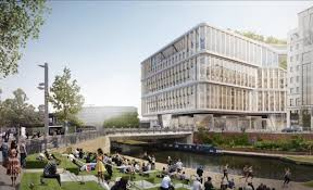 google london office. Google Landscraper, Landscraper By Thomas Heatherwick And BIG, London Campus, Office