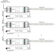 lt 820 5a 4 channels rgbw rgba led dmx decoder DMX RJ45 Connector Wiring connect with rgbw led strip diagram