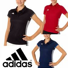 Sports T Shirt Design For Girls Details About Adidas T16 Teamwear Womens Polo Shirts Ladies Sports T Shirts Tee Clearance Sale