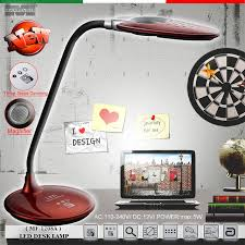 special treatment led desk lamps treasure red magnifier three steps dimming ac110 240v 5w no