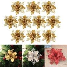 Best value <b>Glitter</b> Hollow <b>Artificial Flower</b> for Christmas – Great deals ...