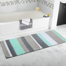bathroom extra long bathroom runner rugs non slip microfiber bath mat extra long