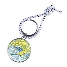 Custom U S Aeronautical Chart Key Ring