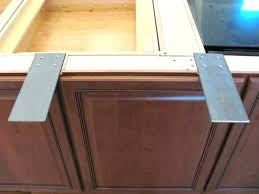 how to support granite countertop overhang attaching dishwasher