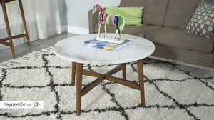 belham living james round mid century modern marble coffee table review
