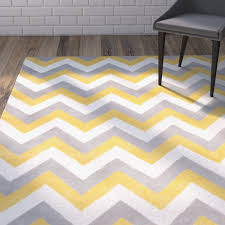 outstanding yellow gray chevron rug modern chevron area rugs allmodern within chevron area rugs popular