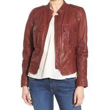 hinge raisin brown womens size medium m patch pocket moto jacket free today 27602194