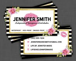 Lipsense Business Cards Senegence Business Card Black And Etsy