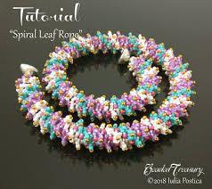 Spiral Beads Design Spiral Leaf Rope Beaded Textured Spiral Rope Tutorial