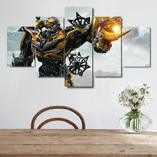 2019 canvas art transformers the last knight blebee canvas hd print wall decor artwith mounting accessories unframed only canvas from fang1422362313