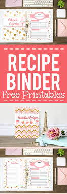 diy recipe binder with free recipe binder printables