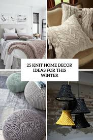 25 Knit Home Décor Ideas For This Winter