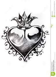 эскиз сердца татуировки иллюстрация штока иллюстрации насчитывающей