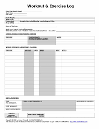 Daily Exercise Log 40 Effective Workout Log Calendar Templates Template Lab