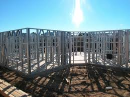 Steel Framed Houses Light Gauge Steel Framing House Structure Quick Installation