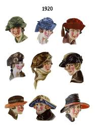 1920s pictures of hat hair styles