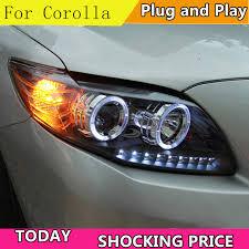 <b>Car Styling Head Lamp</b> case For Toyota Corolla Altis Headlights ...