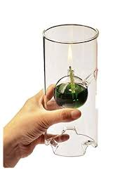 Makeupstore Creative Glass Cylinder Oil Lamp ... - Amazon.com