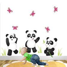 panda bears nursery wall stickers panda bears nursery wall stickers on giant panda wall art with panda bears playing nursery wall stickers