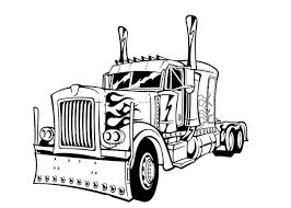 Optimus Prime Transform To Transformers Coloring Page Download