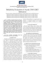 132 33kv Substation Design Pdf Pdf Reliability Evaluation Of Ayede 330 132kv Substation
