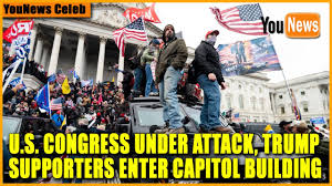 U.S. Congress Under Attack, Trump Supporters Enter Capitol Building - YouTube