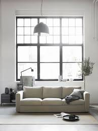 industrial style living room furniture. Modern Industrial Style Living Room | Beige Velvet Sofa Streamlined Black And White Art IKEA Vimle With A Bemz Cover In Sand Furniture S