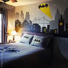 gotham city night scene with batman light