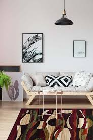 swirl area rug multi color contemporary red black green cream hallway runner skip to the end of the images gallery